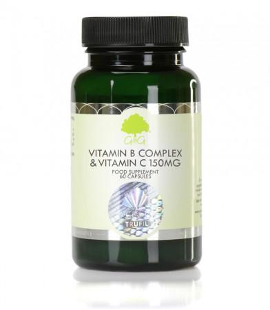 Vitamini B kompleks z vitaminom C 150 mg, 60 kapsul
